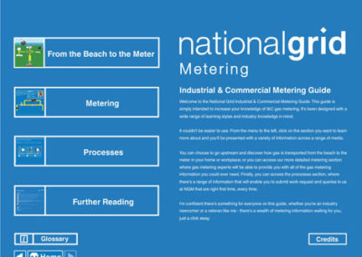 National Grid Metering Guide - Title Menu