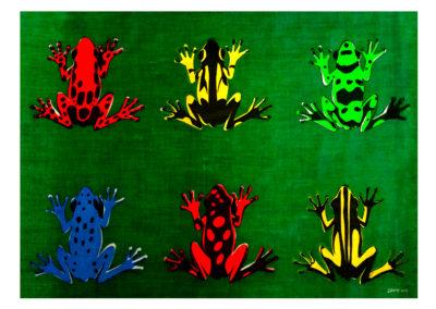Tree Frogs screenprint design