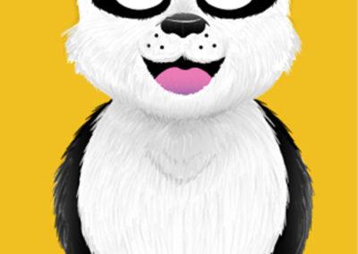 Panda vector art